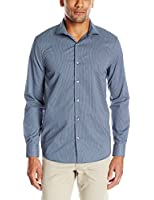 Perry Ellis Men's Slim-Fit Micro Geometric Print Button-Front Shirt