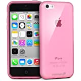 Fosmon DURA-CANDY Glossy Series (Frost Matte Inside) Ultra SLIM-Fit Case Flexible TPU Cover for New Apple iPhone 5C (2013) - Glossy Pink