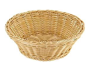 Paderno world cuisine 7 1 2 inch diameter round polyrattan bread - Diametre cercle basket ...