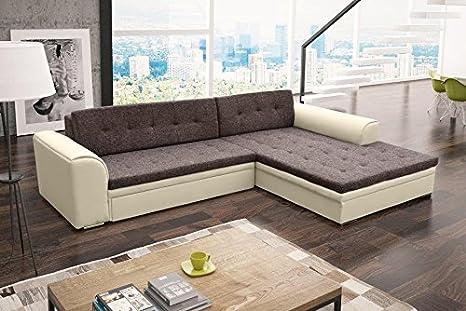 Divano angolare con SORENTO Eck Couch piacevole paesaggio divano letto funzione 01287