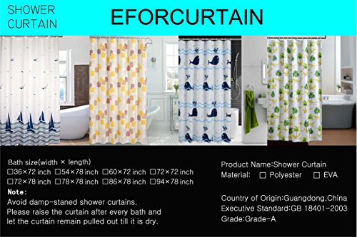 Eforcurtain heavy duty shower curtain waterproof and for Do shower curtains come in different lengths