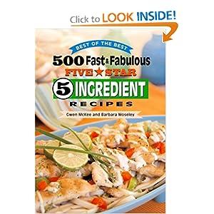 Downloads 500 Fast & Fabulous 5-Star 5-Ingredient Recipes Cookbook e-book