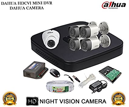 Dahua-DH-HCVR4108C-S2-8CH-Dvr,-4(DH-HAC-HFW1000RP)-Bullet,-1(DH-HAC-HDW1000RP)-Dome-Camera-(With-Accessories,-1TB-HDD)