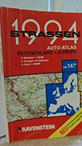 strassen 1995 aktueller autoatlas deutschland europa. Black Bedroom Furniture Sets. Home Design Ideas