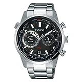 [セイコー パルサー]SEIKO PULSAR デュアルタイム GMT ワールドタイム世界時計 100m防水 メンズ 腕時計 PY7005 [並行輸入品]