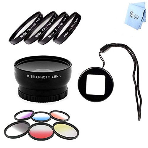 Gopro Hero3 And Hero3+ Telephoto Lens, Color Kit, Macro Kit And Lens Filter Adapter