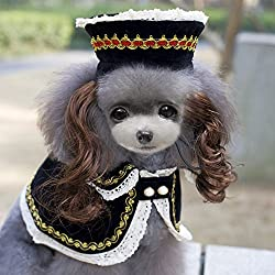 WIDEN ELECTRIC Fashion Summer Dog Sun Block Suit Cloak+Hat+Wig Pet Dog Clothing by WIDEN ELECTRIC