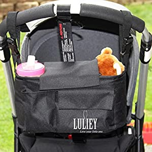 {48 HOUR SALE} Luliey™ Stroller Organizer Bag - Adjustable to Fit All Models of Strollers - Detaches to Work Like a Shoulder Diaper Bag for Baby -#1 Top Quality- Room for Cell Phone, Bottles & More ✮ Perfect Baby Shower Gift & New Parents Gift ✮ Mul