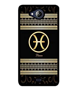 Fuson 2D Printed Sunsign Pisces Designer back case cover for Micromax Canvas Play Q355 - D4315