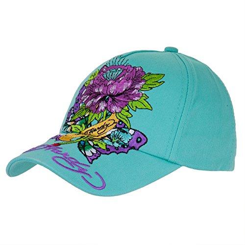 Ed Hardy - Diamond Flower Butterfly Girls Youth Adjustable Baseball Cap