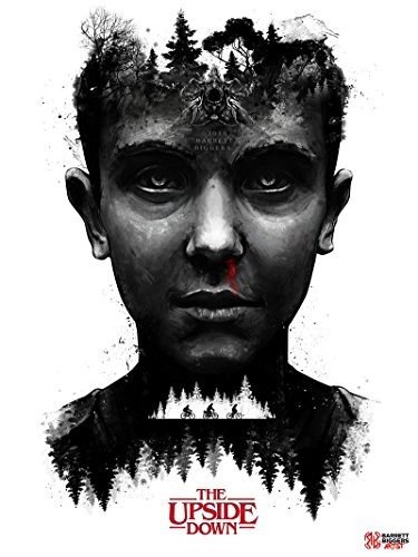 Stranger Things Inspired Eleven Painting and Design Giclèe Poster Print