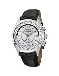Vulcain Aviator GMT Men's Silver Dial Mechanical Alarm Watch 100108.141LF