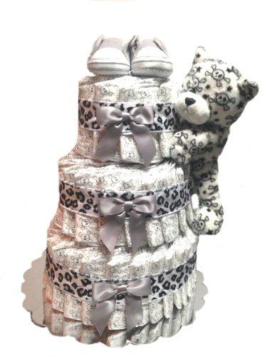 Print Fun - Baby Shower Diaper Cake Gift Set (3 Tier, Skull)