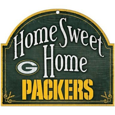 Green Bay Packers NFL Football Home Arch Shaped Wooden Sign