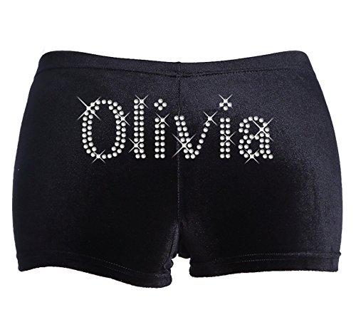 6-8-years-black-personalised-gymnastics-leotard-dance-shorts-in-stretch-velvet