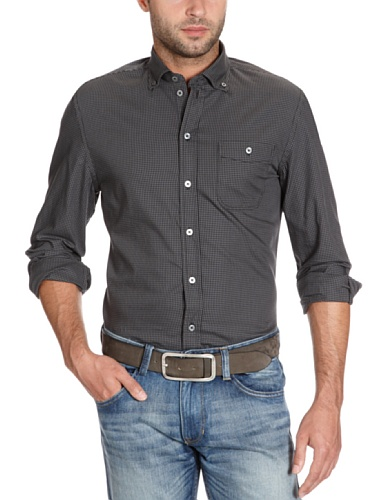 Marc O'Polo Men's 229 1078 42384 Casual Shirt Black (990 Black) 54