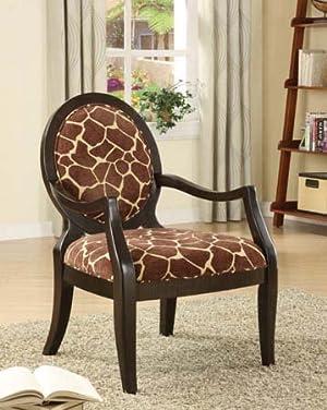 Sophia's Galleria Home Decor Accent Chair, Giraffe Print