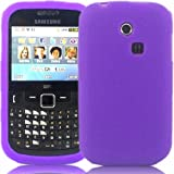 Silicone Case Cover Shell For Samsung Ch@t Chat 335 S3350 / Purple
