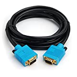 CPO 3M Gold Plated VGA HD15 DDC Monitor SVGA Cable - Black and Blue