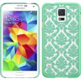 Thousand Eight(TM) Samsung Galaxy S5 Design Slim and stylish profile CRYSTAL RUBBER CASE + [FREE LCD Screen Protector Shield(Ultra Clear)+Touch Screen Stylus] (CRYSTAL TEAL) (green)