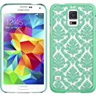 Thousand Eight(TM) Samsung Galaxy S5 Design Slim and stylish profile CRYSTAL RUBBER CASE + [FREE LCD Screen Protector Shield(Ultra Clear)+Touch Screen Stylus] (CRYSTAL TEAL)
