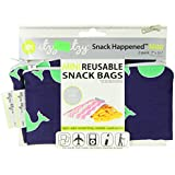 Itzy Ritzy Snack HappensSnack Mini Reusable Snack Bag, Whale Watching Blue, 2-Count