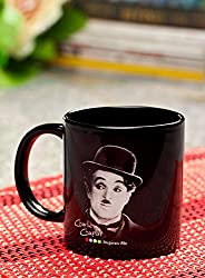 Hot Muggs Charlie Chaplin Quote on Uniqueness Ceramic Inspirational Mug, 350ml