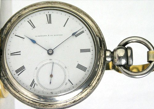 #IK4 Rare E. Howard Series III Antique Hunter Pocket Watch 18 Size (N) 15 Jewels Coin Silver Key Wind Circa 1868 - Historic Railroad Presentation Inscription