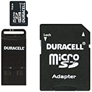 Duracell Micro SD Memory Card With SD And USB Adapter-4GB MICRO SD MEMORY CARD