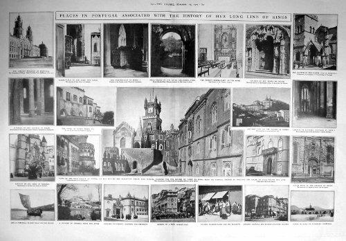 una-stampa-antica-della-chiesa-1909-del-monastero-di-cintra-del-palazzo-del-portogallo-belem