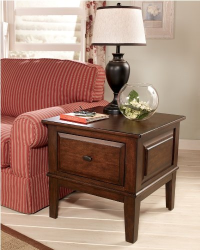 Image of DarkRust icBrown Square End Table - Design by