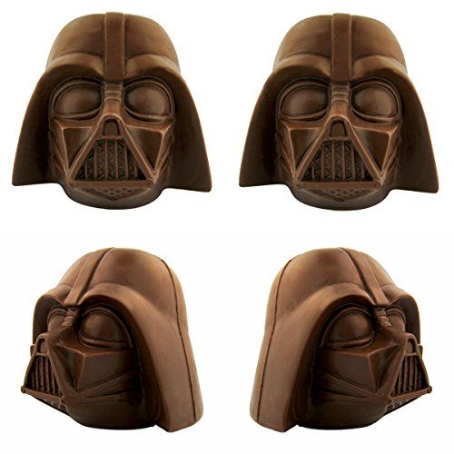 4ct Star Wars Milk Chocolate Darth Vader Helmets Mask Head Jumbo Novelty Candy