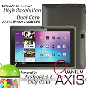 "Axis A23 7"" Dual Core, Dual Camera, 1024*600 Capacitive Screen Android 4.2 Tablet Pc (Black)"