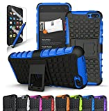 Fire Phone Case, CINEYO(TM) heavy Duty Rugged Dual Layer Case with kickstand (Amazon Fire Phone Case Black) (Black) (Blue)