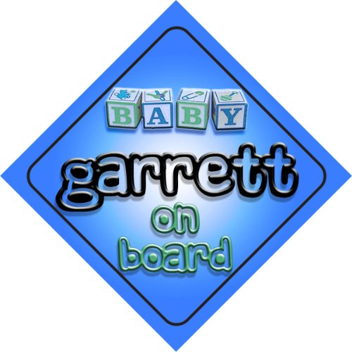 Baby Boy Garrett on board novelty car sign gift / present for new child / newborn baby newborn baby boy girl infant warm cotton outfit jumpsuit romper bodysuit clothes