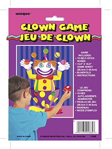 Pin The Nose On The Clown Party Game - 1