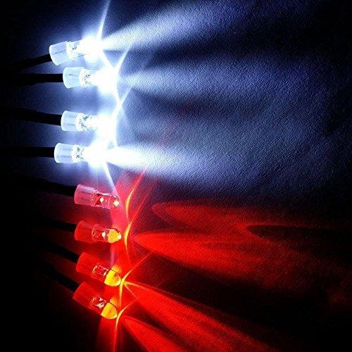 Shaluoman RC 1:10 LED Light Kit White And Red 5mm Revo Jato Traxxas Slash HPI Futaba Plug (Led Rc Car Light Kits compare prices)