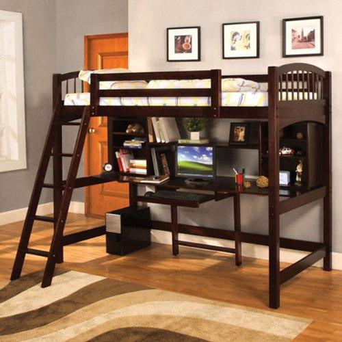 Hayden Espresso Finish Twin Size Loft Bed front-925426