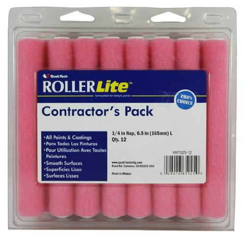 Quali-Tech 6MT025-12 6-Inch Roller Lite Mo-Tech Contractor Pack Mini Rollers