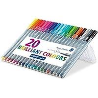 20-Pack Staedtler Triplus Fineliner 3mm Metal Clad Tip Pens