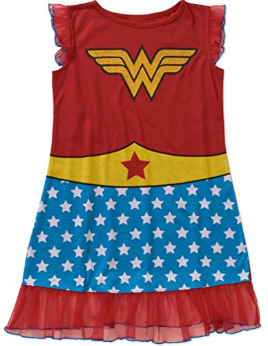 [Wonder Woman Girls' License Pajama Tank Sleep Gown (L/G 10-12)] (Womens Tank Dress Wonder Woman Costumes)