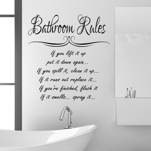 bathroom-rules-wall-sticker-quote-funny-vinyl-decal-graphic-transfer-mural-art-55x100-black
