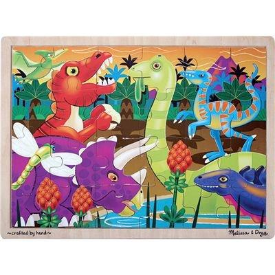 Cheap Fun Melissa & Doug Prehistoric Sunset Dinosaurs Jigsaw 24 pcs Puzzle (B000GKU2Z2)