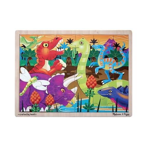 Melissa & Doug Prehistoric Sunset Dinosaurs Jigsaw 24 pcs Puzzle