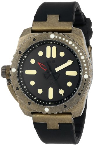 Vestal Men's RED3S03 Restrictor Diver 43 Antique Gold Black Watch