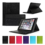 CoastCloud UK Layout QWERTY Bluetooth Detachable Bluetooth Keyboard Black Case PU Leather Cover For Samsung HTC ASUS APPLE 10.1