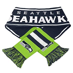 NFL Authentic Seattle Seahawks Team Knit Scarf
