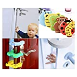 7 x ZeWoo Schaumstoff EVA Türstopper - Tier Motive (01) - Doorstop Finger Klemmschutz für Baby Kindersicherung