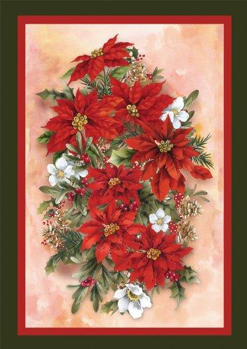 Toland Home Garden Poinsettia Spray Flag 110570