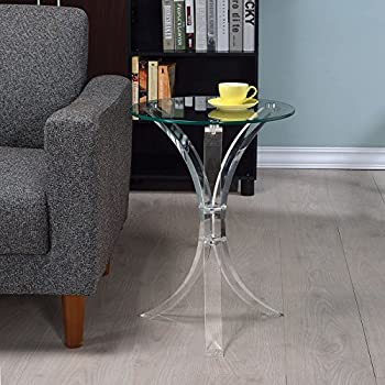Coaster Round Glass Top End Table
